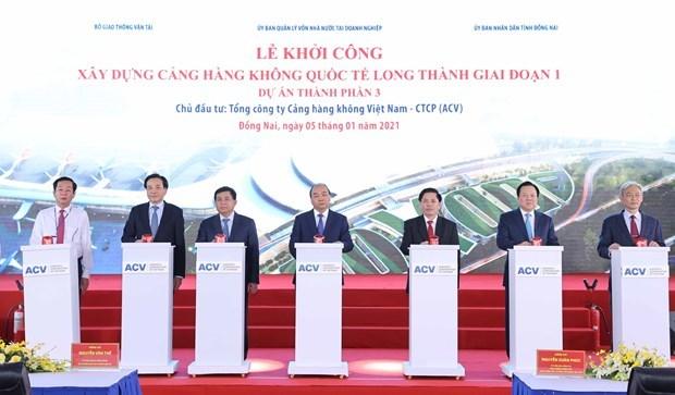 阮春福:隆城机场将为一个发展壮大的越南作出贡献 hinh anh 3
