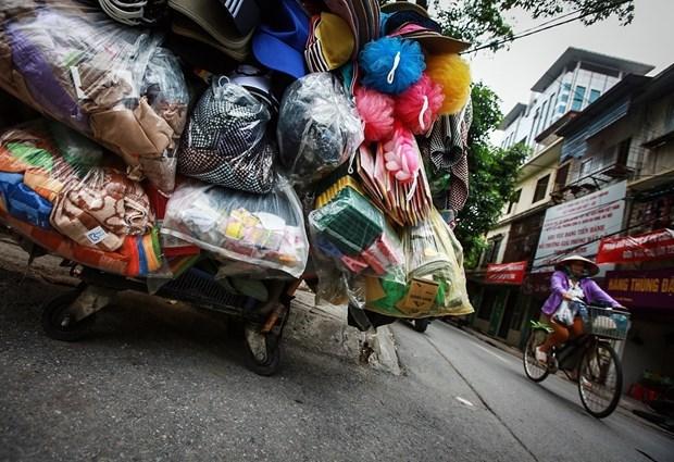 河内拟建超市联盟致力减少塑料袋的使用 hinh anh 1