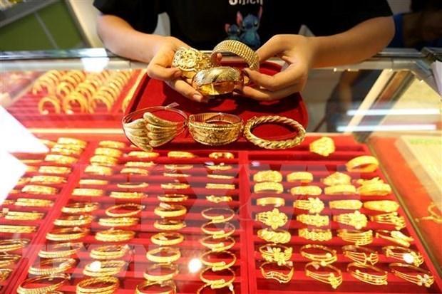 18日上午越南国内市场黄金价格每两5600万越盾以上 hinh anh 1