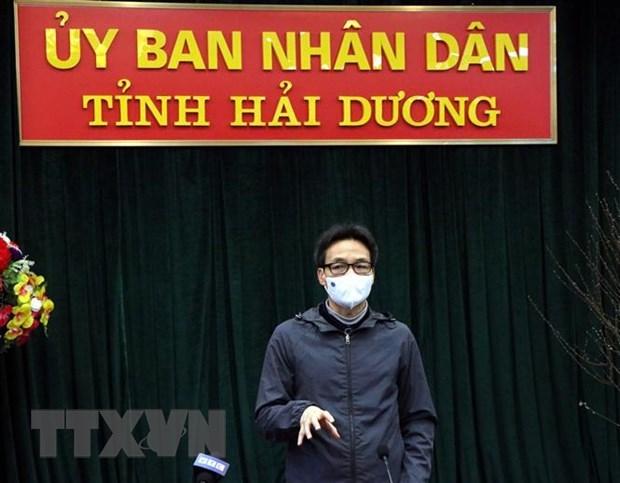 武德儋副总理对广宁和海阳两省的防疫工作进行实地检查 hinh anh 2