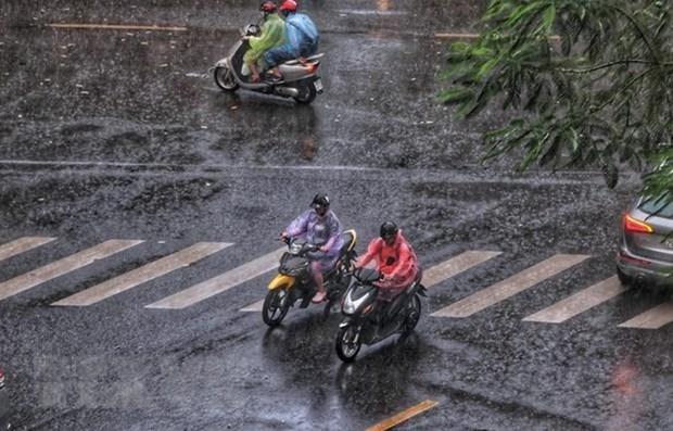 越南北部和中部以北地区今明出现雷雨天气 或将伴随闪电、冰雹 hinh anh 1