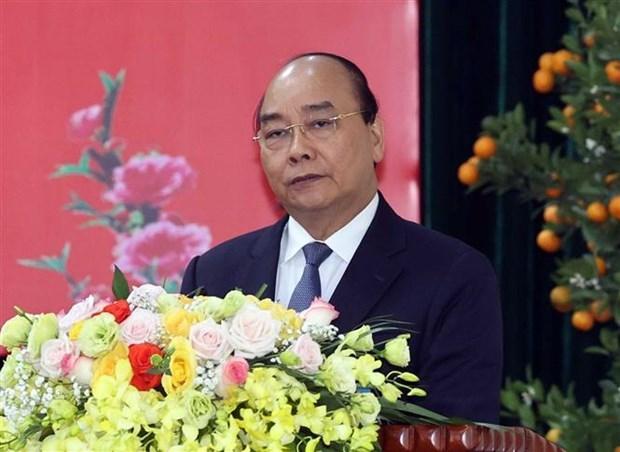 阮春福总理视察部分人民公安单位的执勤备战工作 hinh anh 2