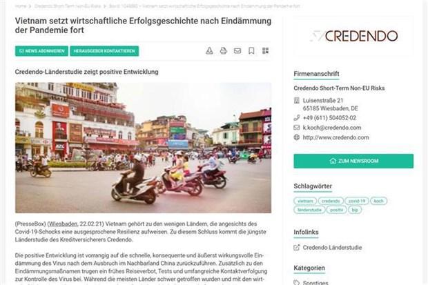 欧洲信用保险公司:越南续写经济发展的成功故事 hinh anh 1