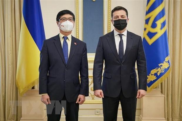 乌克兰总统对越南所取得的成就表示印象深刻 hinh anh 1