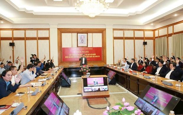 越共中央办公厅推荐提名5名第十五届国会代表候选人 hinh anh 1