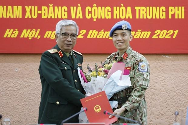 越南第二位军官将赴美国纽约联合国总部执行任务 hinh anh 1