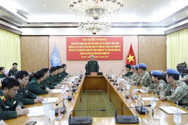 越南第二位军官将赴美国纽约联合国总部执行任务 hinh anh 2