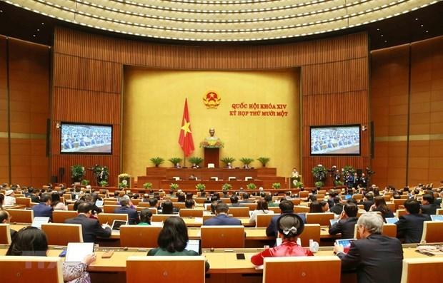第十四届国会第十一次会议:国会听取2016-2021年任期工作报告并分组讨论 hinh anh 1
