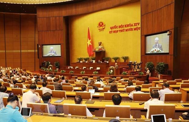 第十四届国会第十一次会议:国会免去政府总理和国家主席职务 hinh anh 1