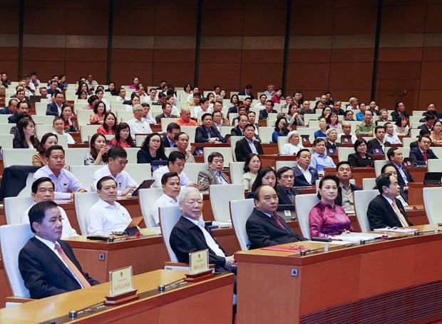 越南第十四届国会第十一次会议:提请国会免去国家主席职务 hinh anh 1