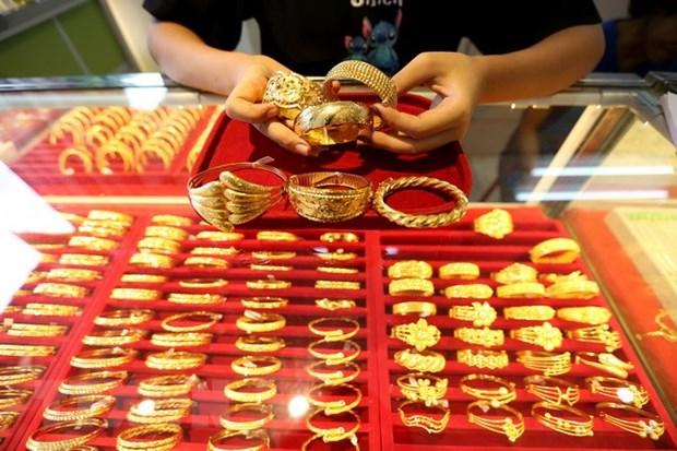 9日上午越南国内市场黄金价格每两上涨18万越盾 hinh anh 1
