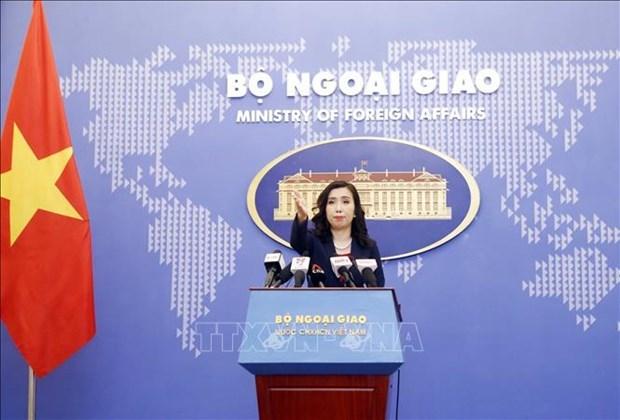 外交部例行记者会:越南要求各家企业尊重越南对黄沙和长沙两个群岛的主权 hinh anh 1
