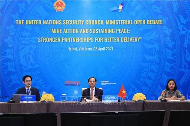 越南与联合国安理会:加强在处理遗留炸弹后果的国际合作 hinh anh 1