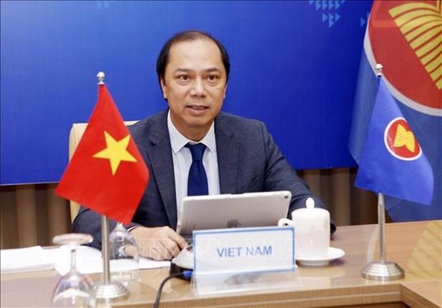越南外交部副部长阮国勇出席东盟与英国外长三方视频对话会 hinh anh 1