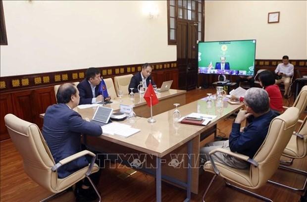 越南外交部副部长阮国勇出席东盟与英国外长三方视频对话会 hinh anh 2