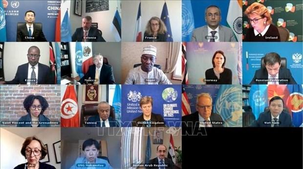 越南与联合国安理会:国际社会高度赞赏越南在安理会主持关于解决爆炸物问题的会议 hinh anh 1