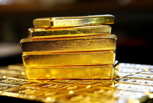 12日上午越南国内市场黄金价格每两下降10万越盾 hinh anh 1