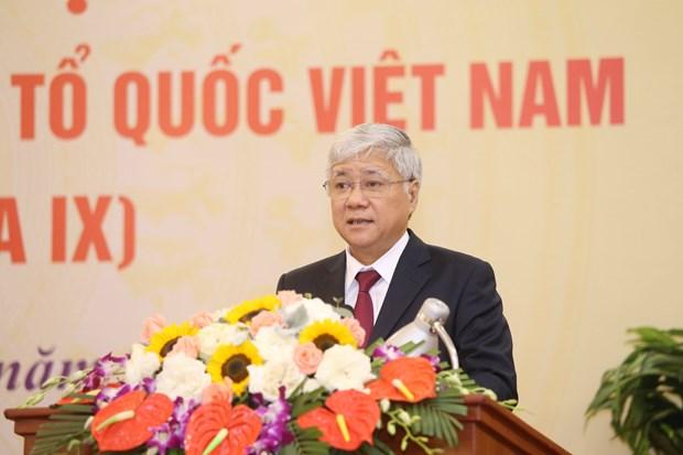 杜文战被推选为越南祖国阵线中央委员会主席 hinh anh 1