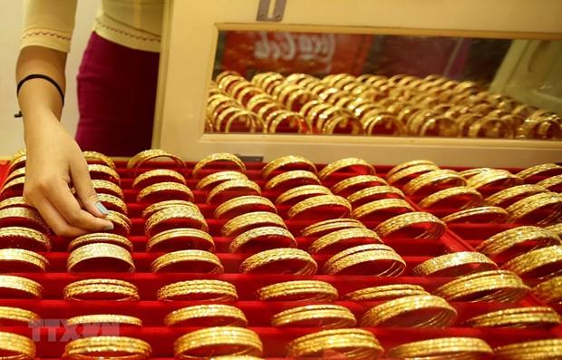 22日上午越南国内市场黄金价格每两接近5600万越盾 hinh anh 1
