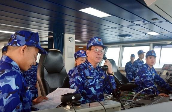 2021年第一次越中北部湾联合巡逻活动结束 hinh anh 1