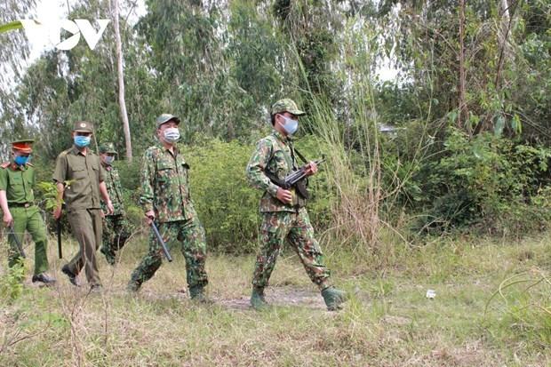 同塔省边检力量加强边境地区疫情防控措施 hinh anh 1