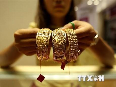 29日上午越南国内市场黄金价格每两在5500万越盾以上 hinh anh 1