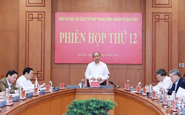 国家主席阮春福主持召开中央司法改委第十二次会议 hinh anh 1