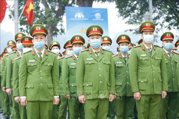 公安机关全力以赴确保选举日的绝对安全 hinh anh 1