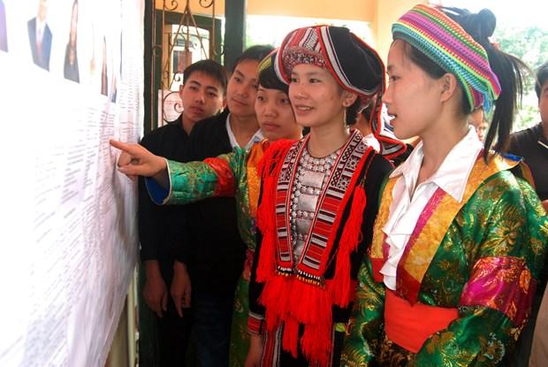山区与少数民族地区国会换届选举氛围 (资料图片) hinh anh 4