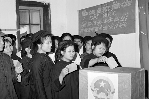 山区与少数民族地区国会换届选举氛围 (资料图片) hinh anh 1