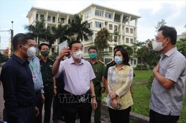 河内市人民委员会主席朱玉英:充分利用黄金48个小时来控制疫情 hinh anh 1