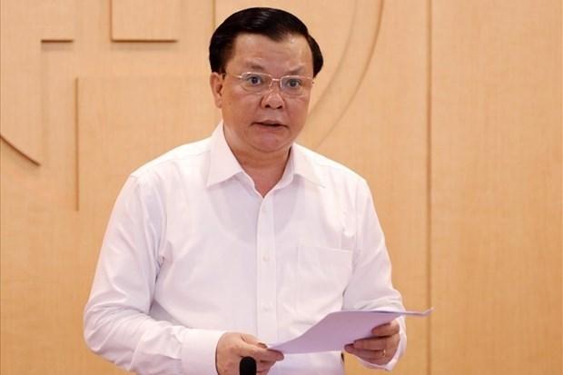 河内市委书记:目前尚未考虑全市范围内实施社交距离措施的方案 hinh anh 1