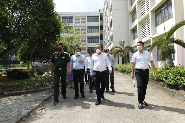 政府常务副总理张和平检查胡志明市的防疫工作 hinh anh 1