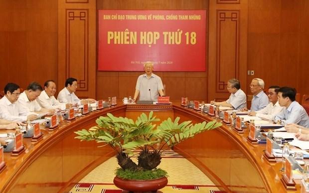 中央反腐败指导委员会第20次会议将于8月5日召开 hinh anh 1