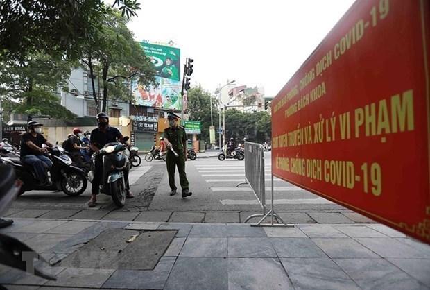 九·二国庆假期河内市收紧疫情防控管理措施 hinh anh 1