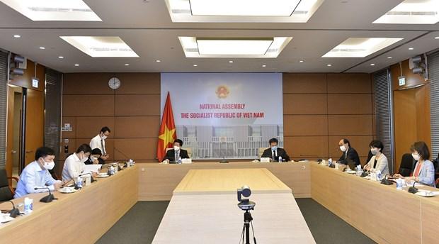 """对""""提高越南国会办公室业务能力""""项目实施情况进行总结 hinh anh 1"""