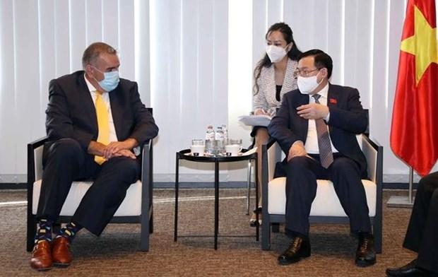 越南国会主席王廷惠会见欧洲各大集团代表 hinh anh 3