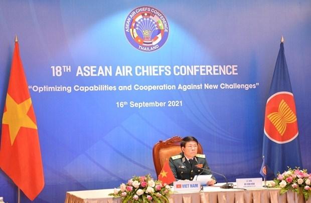 第十八届东盟国家空军司令会议以视频方式召开 hinh anh 1