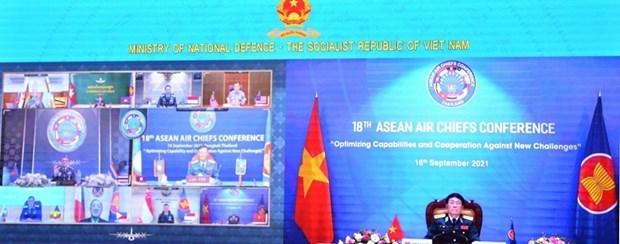 第十八届东盟国家空军司令会议以视频方式召开 hinh anh 2