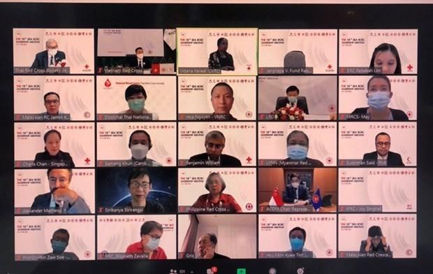 第十八次东南亚红十字会与红新月会领导人在线会议正式开幕 hinh anh 1