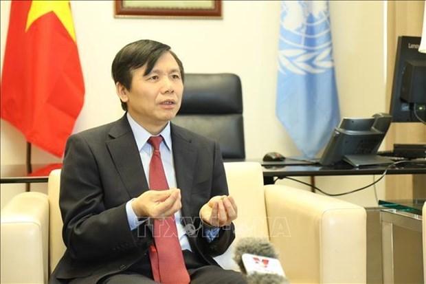 邓廷贵大使:国家主席阮春福出席第76届联合国大会高级别会议彰显越南应对全球挑战的责任和坚定承诺 hinh anh 1