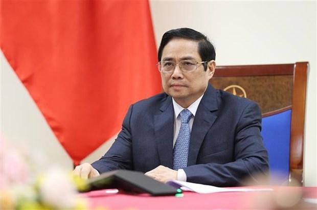 越南政府总理范明政与奥地利总理库尔茨通电话 hinh anh 1