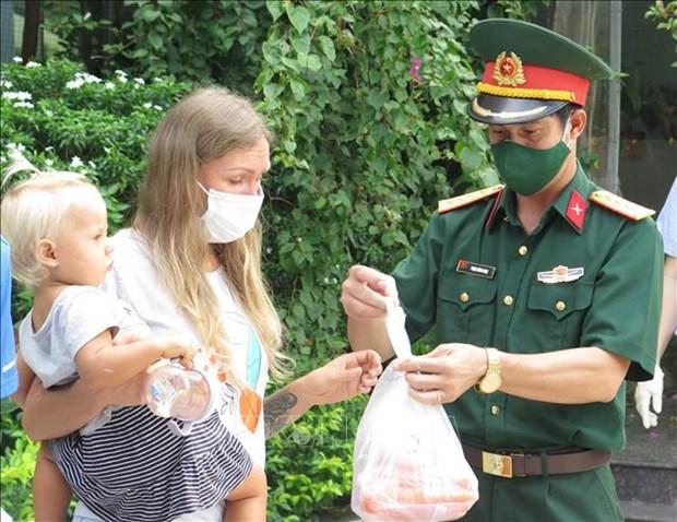 庆和省助力外国人渡过困难时期 hinh anh 2