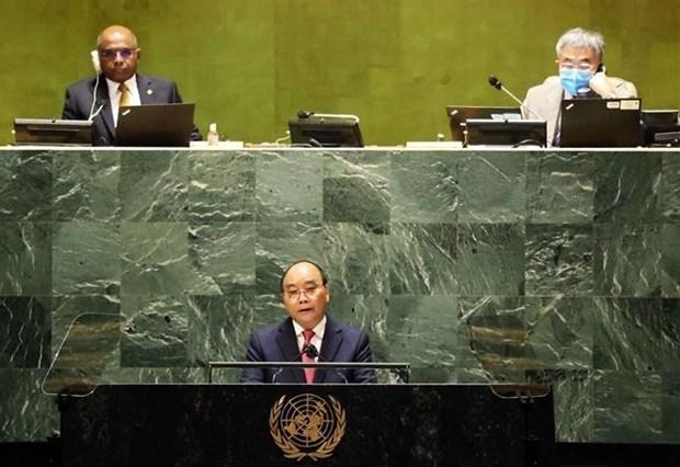 越南国家主席阮春福在第76届联合国大会一般性辩论上发表重要演讲 hinh anh 1