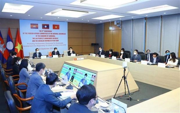 越老柬三国国会对外委员会关于发展三角区的第八次会议开幕 hinh anh 2