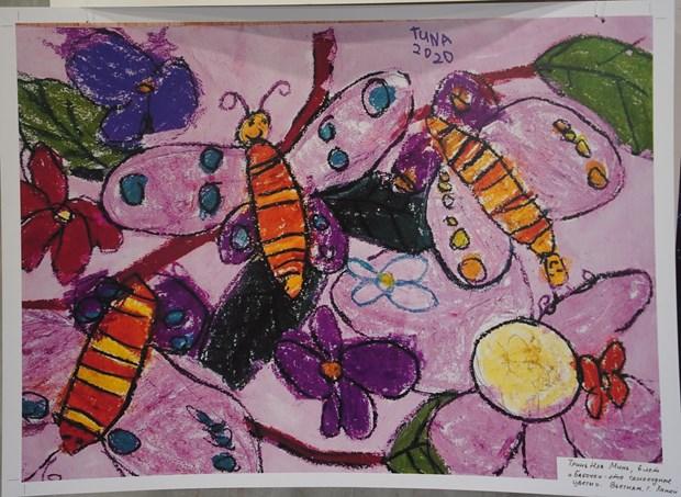 """越南两名儿童获得题为""""星球的自然""""的国际儿童绘画比赛的大奖 hinh anh 1"""