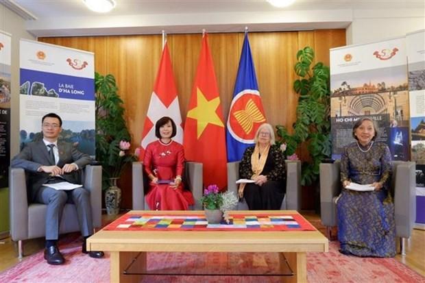 越南驻日内瓦和伯尔尼代表机构配合举行2021年瑞士越南日 hinh anh 1