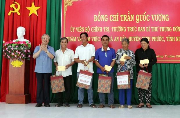 Dong chi Tran Quoc Vuong tham, lam viec tai Ninh Thuan hinh anh 2