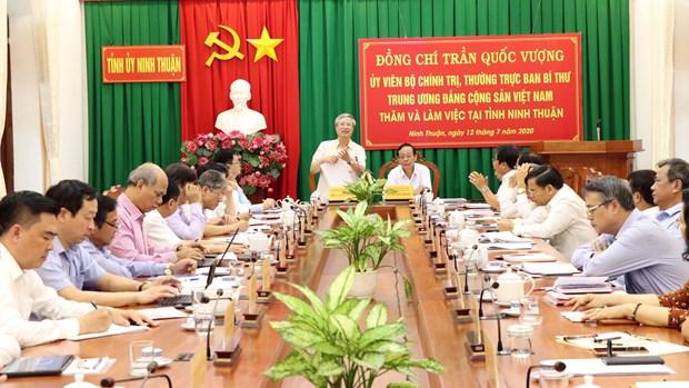 Dong chi Tran Quoc Vuong tham, lam viec tai Ninh Thuan hinh anh 1