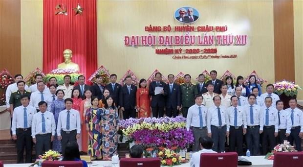 Tien toi Dai hoi XIII cua Dang: Dang bo huyen Chau Phu xac dinh 3 khau dot pha moi hinh anh 1